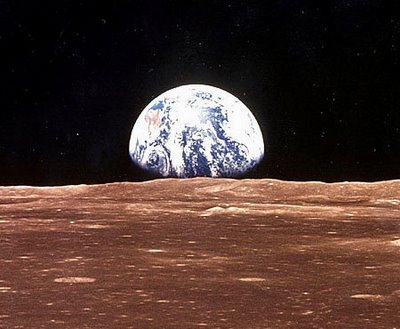 Earth Seen From the Moon - Pics about space